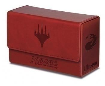 Dual Flip Deck Box - Magic Mana - Red