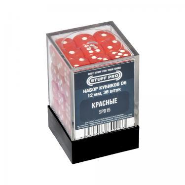 Набор кубиков STUFF PRO D6. Красные 12мм 36 шт