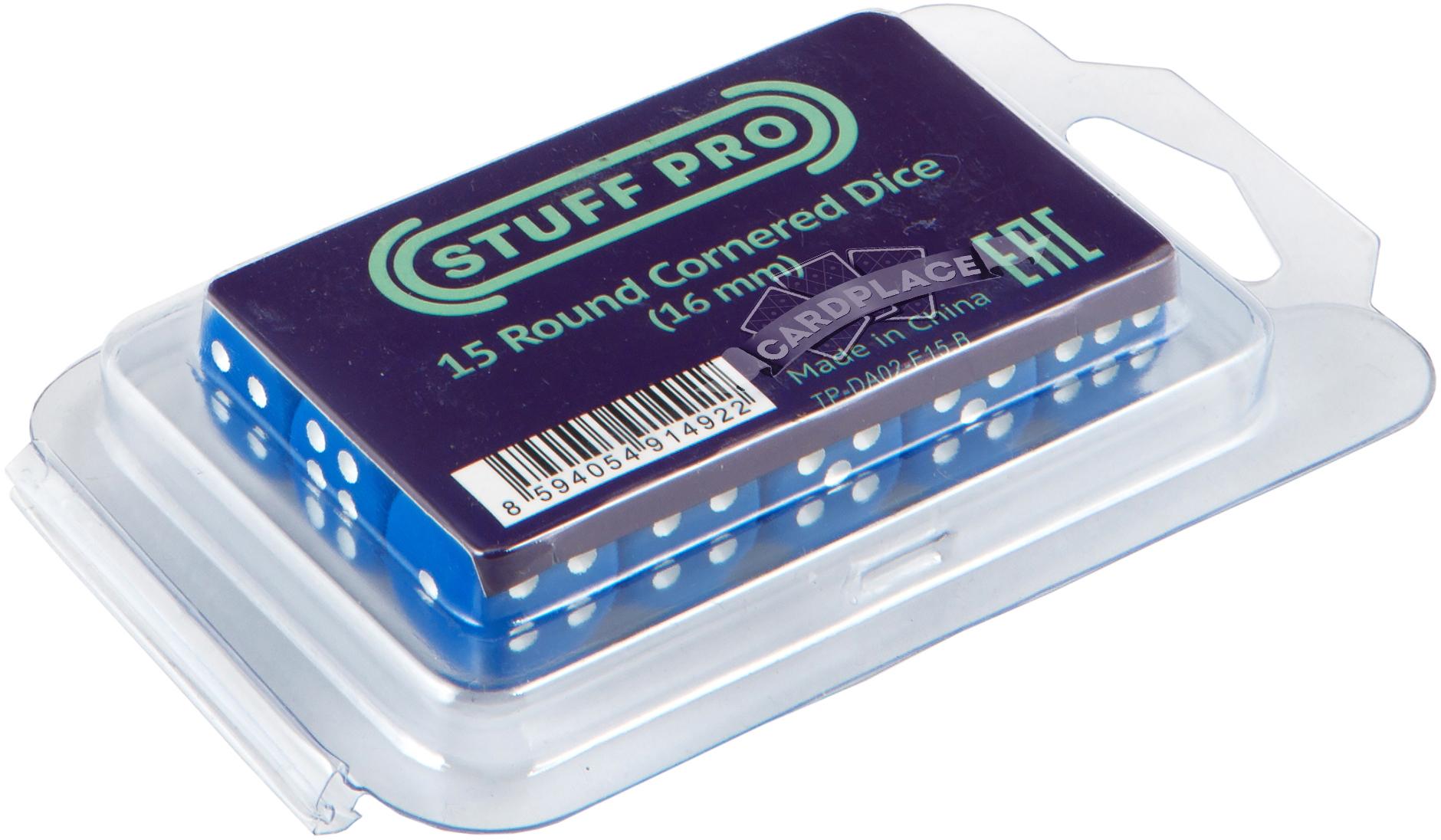 Набор кубиков d6: синие (15 шт, 16 мм)