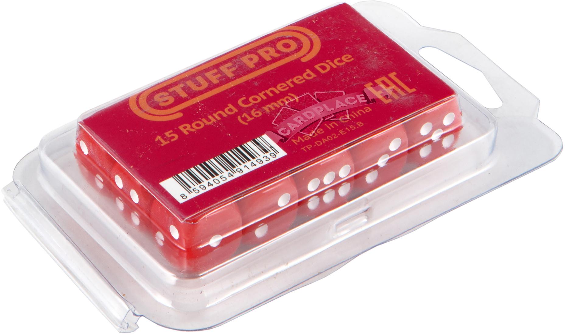 Набор кубиков d6: красные (15 шт, 16 мм)