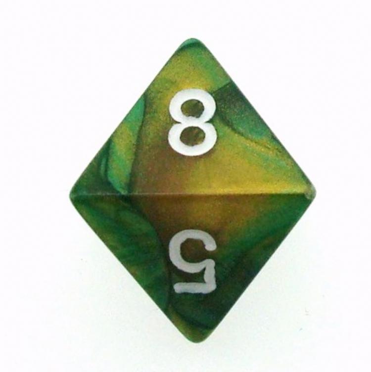 8-гранный кубик 15 мм Драгоценный Камень разных цветов