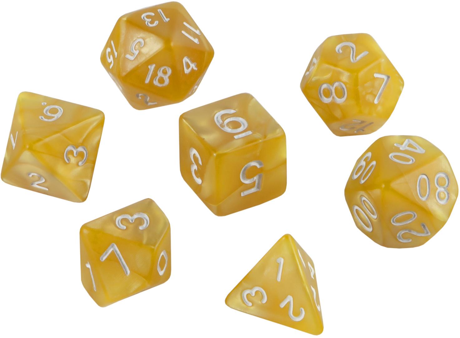 Набор кубиков Role Playing Dice Set - Flash Yellow (7 шт, 16 мм)
